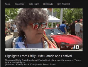 Local TV Station Interviews Edie at the Philly Pride Parade and Festival